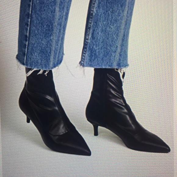 5030b442141 Free People Marilyn Kitten Heel Booties- NWT Boutique